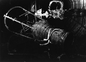 V-2 rocket engine, assembly chamber 29. Courtesy of Al Gilens.