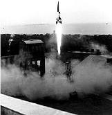 Liftoff of V–2 Rocket at Peenemünde. Courtesy of Wikimedia Commons.